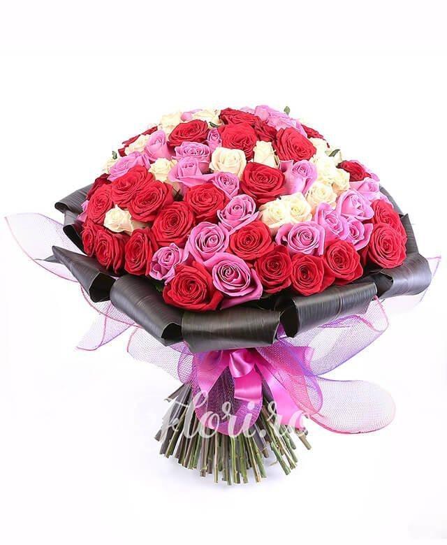 33 trandafiri roșii, 33 trandafiri roz, 33 trandafiri crem