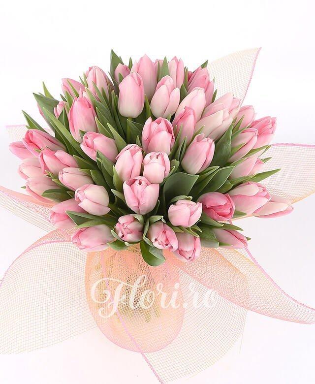 49 lalele roz