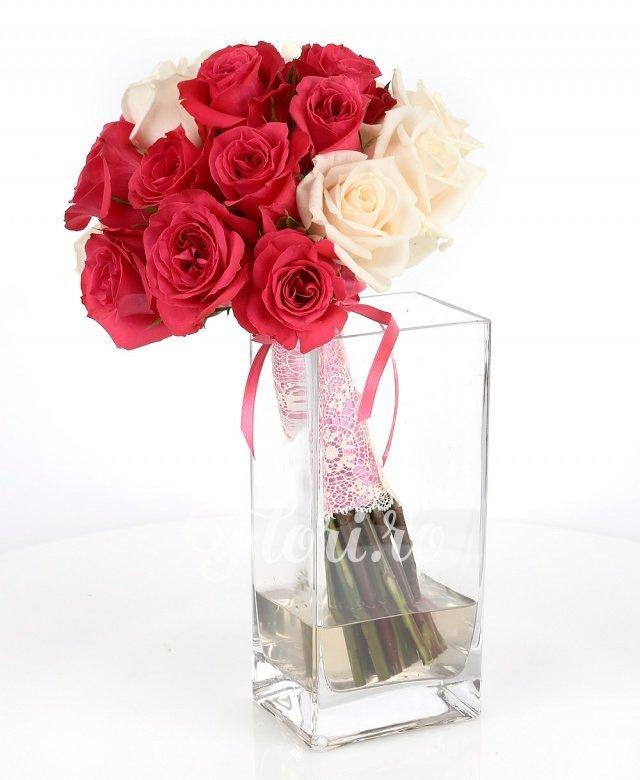 9 trandafiri vendela, 10 trandafiri cyclam