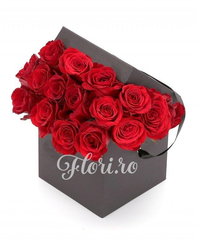 19 trandafiri roșii