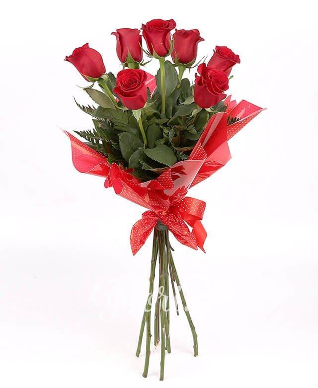 7 trandafiri roșii