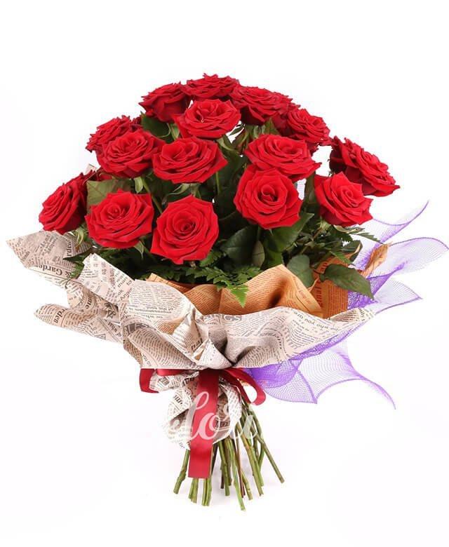 21 trandafiri roșii